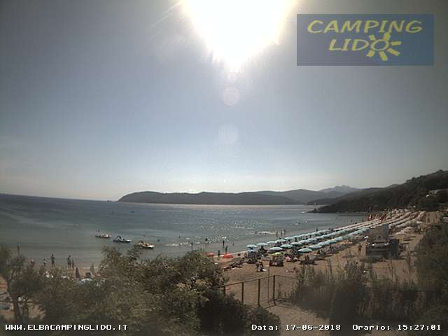 Web Cam from Lido Beach - Island of Elba